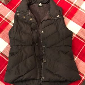 Dark gray J Crew down vest size small